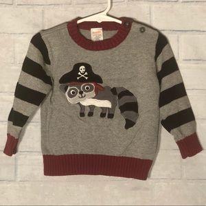 ☠️Gymboree☠️ Pirate Raccoon Sweater